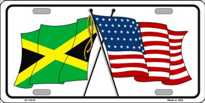 Jamaica Crossed US Flag Wholesale License Plate LP-11515