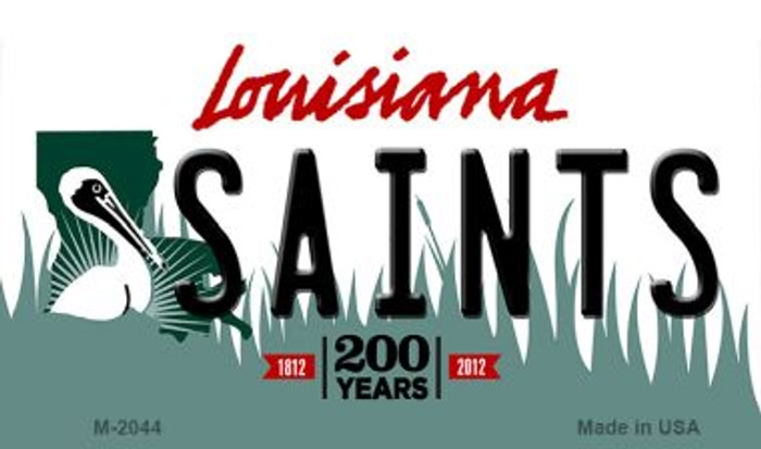 Saints Louisiana State License Plate Wholesale Magnet M-2044