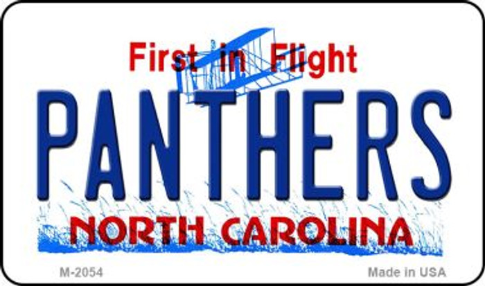 Panthers North Carolina State License Plate Wholesale Magnet M-2054