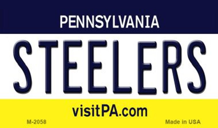 Steelers Pennsylvania State License Plate Wholesale Magnet M-2058