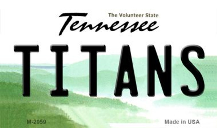 Titans Tennessee State License Plate Wholesale Magnet M-2059