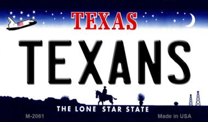 Texans Texas State License Plate Wholesale Magnet M-2061