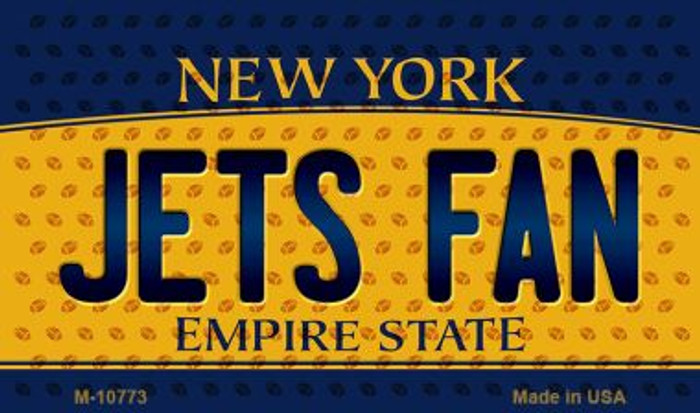Jets Fan New York State License Plate Wholesale Magnet M-10773