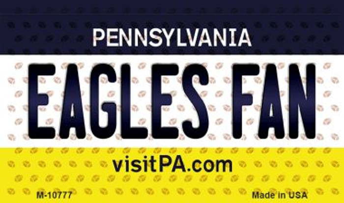 Eagles Fan Pennsylvania State License Plate Wholesale Magnet M-10777