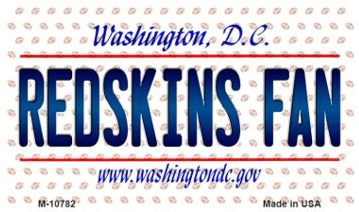 Redskins Fan Washington DC State License Plate Wholesale Magnet M-10782