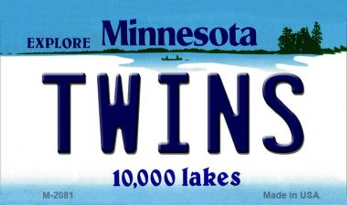 Twins Minnesota State License Plate Wholesale Magnet M-2081