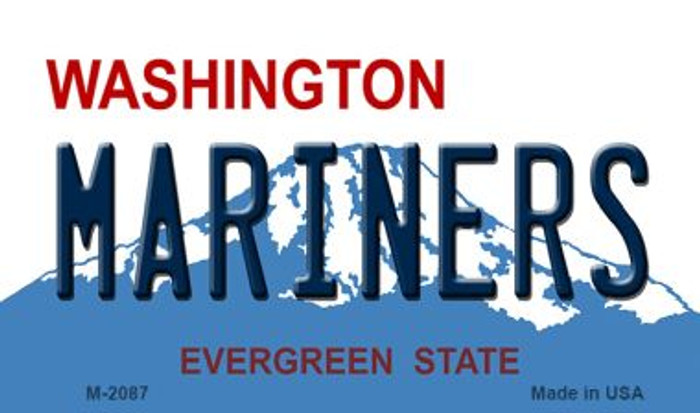 Mariners Washington State License Plate Wholesale Magnet M-2087
