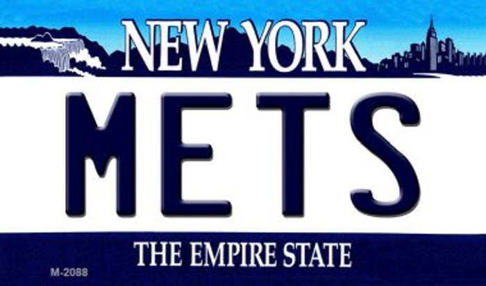Mets New York State License Plate Wholesale Magnet M-2088