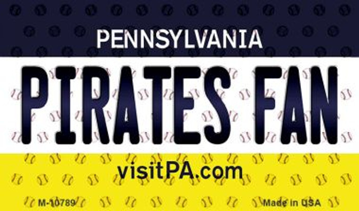 Pirates Fan Pennsylvania State License Plate Wholesale Magnet M-10789