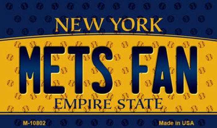 Mets Fan New York State License Plate Wholesale Magnet M-10802