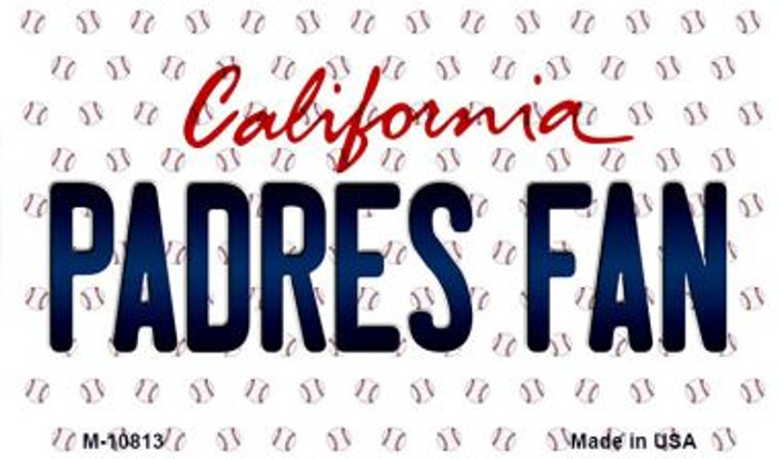 Padres Fan California State License Plate Wholesale Magnet M-10813