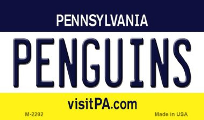 Penguins Pennsylvania State License Plate Wholesale Magnet M-2292