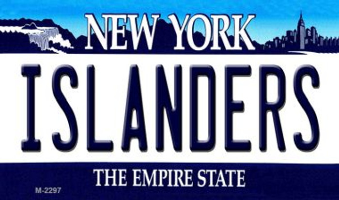 Islanders New York State License Plate Wholesale Magnet M-2297