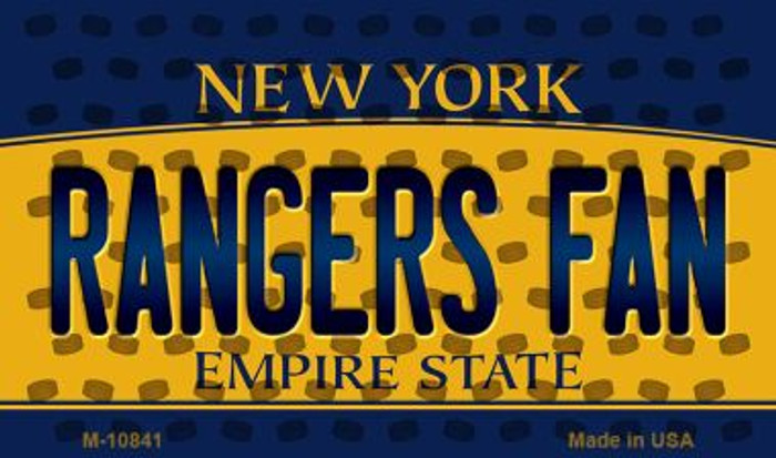 Rangers Fan New York State License Plate Wholesale Magnet M-10841