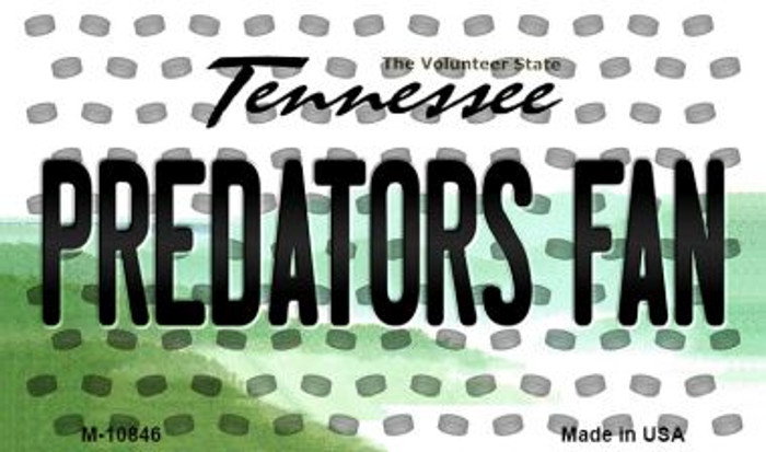Predators Fan Tennessee State License Plate Wholesale Magnet M-10846