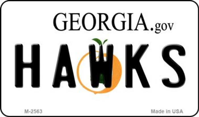 Hawks Georgia State License Plate Wholesale Magnet M-2563