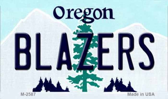 Blazers Oregon State License Plate Wholesale Magnet M-2587