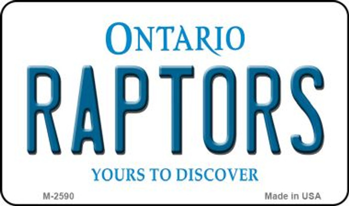 Raptors Ontario State License Plate Wholesale Magnet M-2590