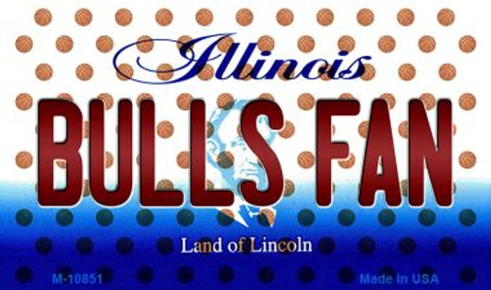 Bulls Fan Illinois State License Plate Wholesale Magnet M-10851