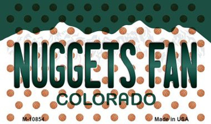 Nuggets Fan Colorado State License Plate Wholesale Magnet M-10854