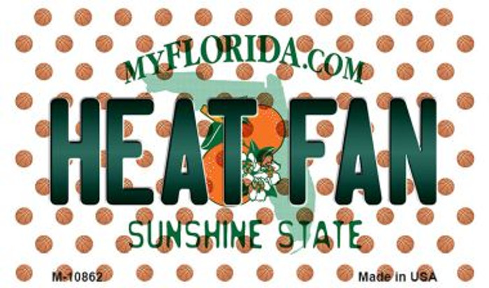 Heat Fan Florida State License Plate Wholesale Magnet M-10862