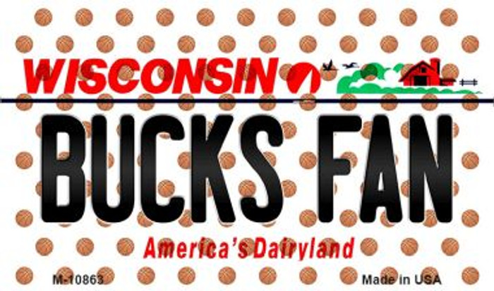 Bucks Fan Wisconsin State License Plate Wholesale Magnet M-10863