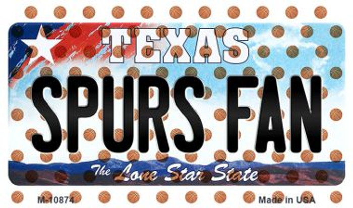 Spurs Fan Texas State License Plate Wholesale Magnet M-10874