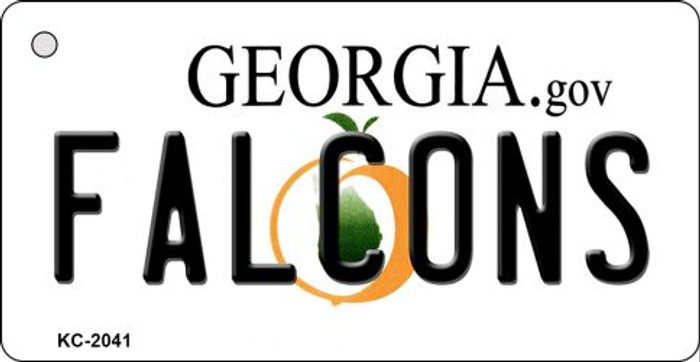 Falcons Georgia State License Plate Wholesale Key Chain KC-2041
