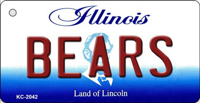 Bears Illinois State License Plate Wholesale Key Chain KC-2042