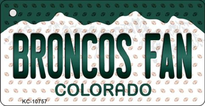 Broncos Fan Colorado State License Plate Wholesale Key Chain KC-10757