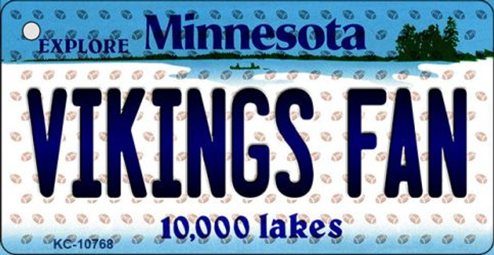 Vikings Fan Minnesota State License Plate Wholesale Key Chain KC-10768