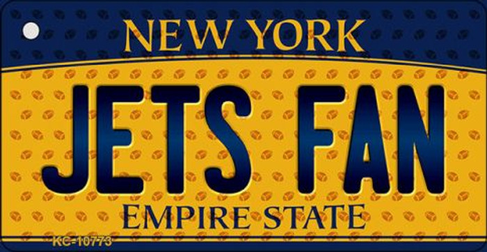 Jets Fan New York State License Plate Wholesale Key Chain KC-10773