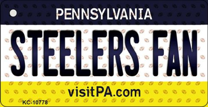 Steelers Fan Pennsylvania State License Plate Wholesale Key Chain KC-10778