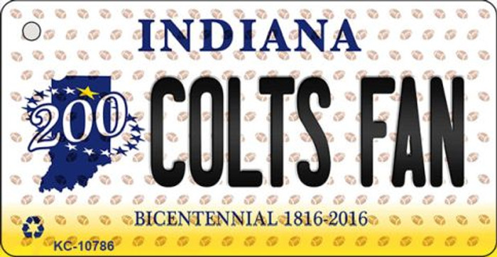 Colts Fan Indiana State License Plate Wholesale Key Chain KC-10786