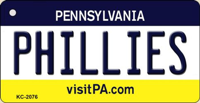 Phillies Pennsylvania State License Plate Wholesale Key Chain KC-2076