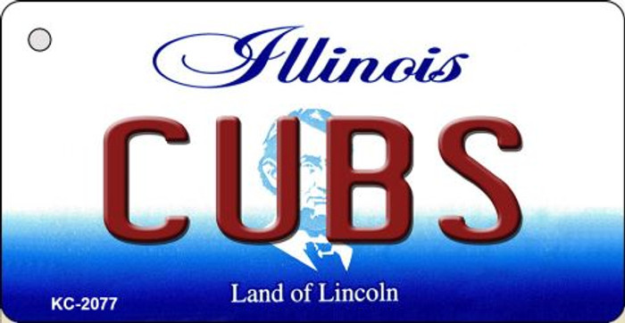 Cubs Illinois State License Plate Wholesale Key Chain KC-2077