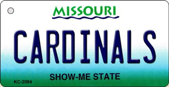 Cardinals Missouri State License Plate Wholesale Key Chain KC-2094