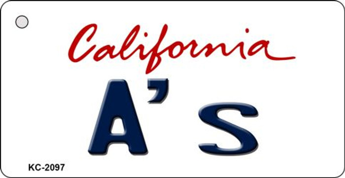 A's California State License Plate Wholesale Key Chain KC-2097