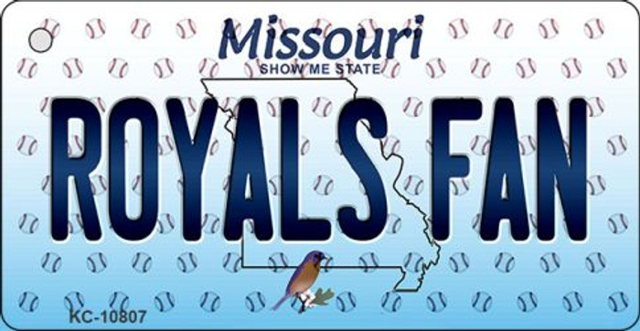 Royals Fan Missouri State License Plate Wholesale Key Chain KC-10807