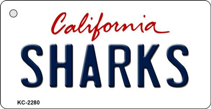 Sharks California State License Plate Wholesale Key Chain KC-2280