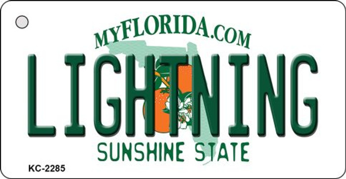 Lightning Florida State License Plate Wholesale Key Chain KC-2285