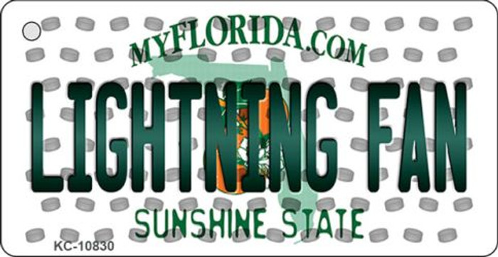 Lightning Fan Florida State License Plate Wholesale Key Chain KC-10830