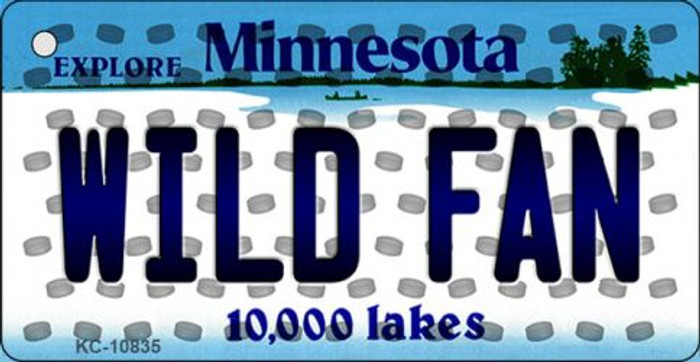 Wild Fan Minnesota State License Plate Wholesale Key Chain KC-10835