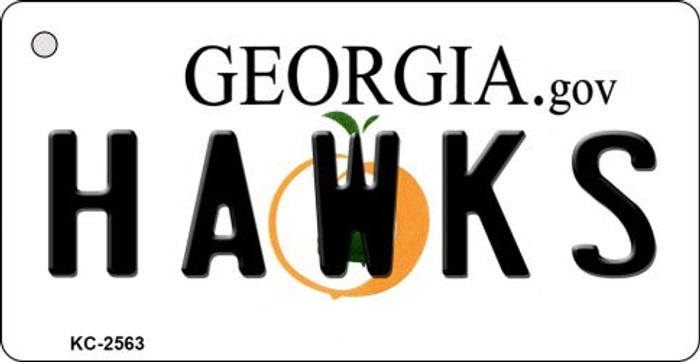 Hawks Georgia State License Plate Wholesale Key Chain KC-2563