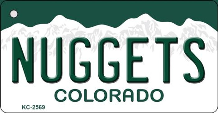 Nuggets Colorado State License Plate Wholesale Key Chain KC-2569