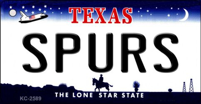 Spurs Texas State License Plate Wholesale Key Chain KC-2589