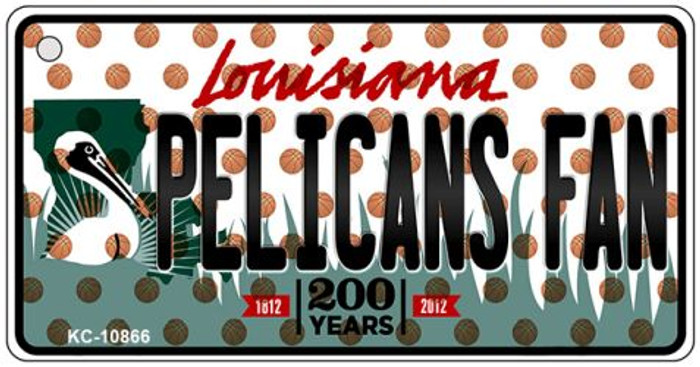 Pelicans Fan Louisiana State License Plate Wholesale Key Chain KC-10866