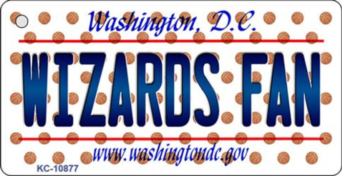 Wizards Fan Washington DC State License Plate Wholesale Key Chain KC-10877