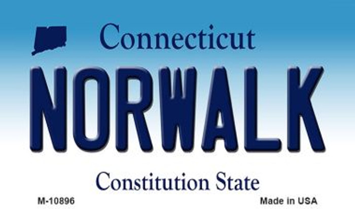 Norwalk Connecticut State License Plate Wholesale Magnet M-10896