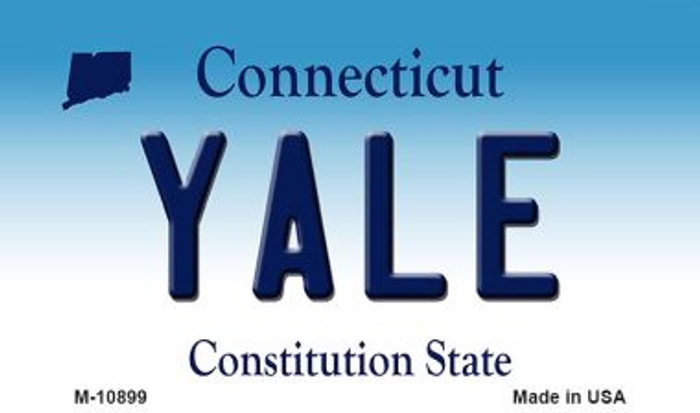 Yale Connecticut State License Plate Wholesale Magnet M-10899
